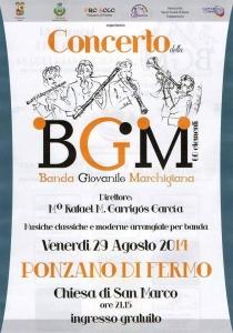 cartel concierto ponzano