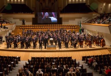 Actuación de la Banda Simfònica de SIUM de Tavernes de la Valldigna al 41 Certàmen Provincial de Bandes de València