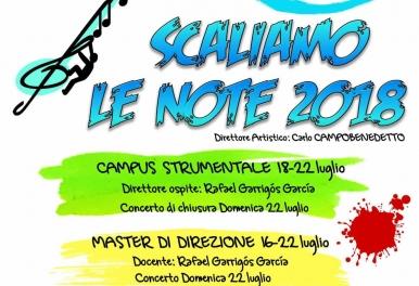 """Rafa Garrigós profesor del Curso de Dirección y Campus Musical """"Scaliamo le Note 2018"""""""