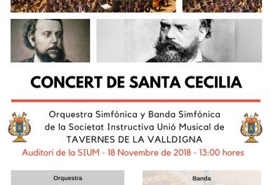 Concierto de Santa Cecilia de la Orquesta Sinfónica y la Banda Sinfónica de la Societat Instructiva Unió Musical de TAVERNES DE LA VALLDIGNA