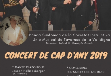 CONCIERTO NAVIDAD 2019 BANDA SINFÓNICA DE LA SOCIETAT INSTRUCTIVA UNIÓ MUSICAL DE TAVERNES DE LA VALLDIGNA